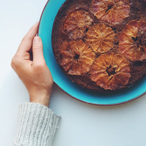 Blood orange, polenta and almond cake