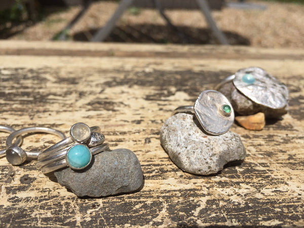 Handmade silver rings by Cupsmith