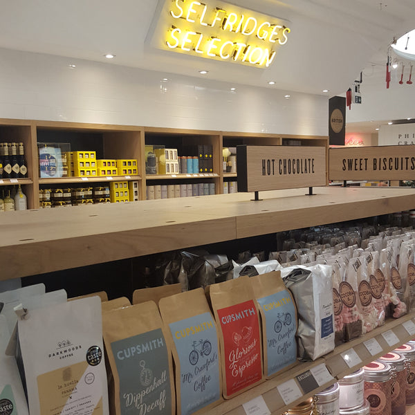 Cupsmith coffee in Selfridges Food Hall