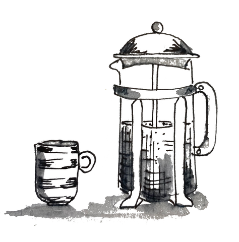 Cafetiere of Cupsmith coffee