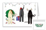 nothin' butt an afghan hound christmas card