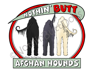 Nothin' Butt Afghan Hounds Light Colored T-shirts