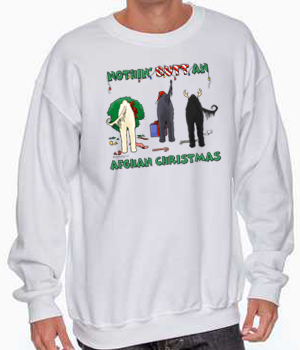 Nothin' Butt An Afghan Hound Christmas Sweatshirt