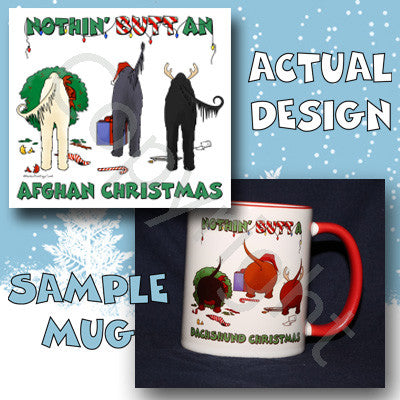 Nothin' Butt An Afghan Christmas 11 oz Red Mug