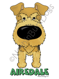 Big Nose Airedale Terrier Light Colored T-shirts