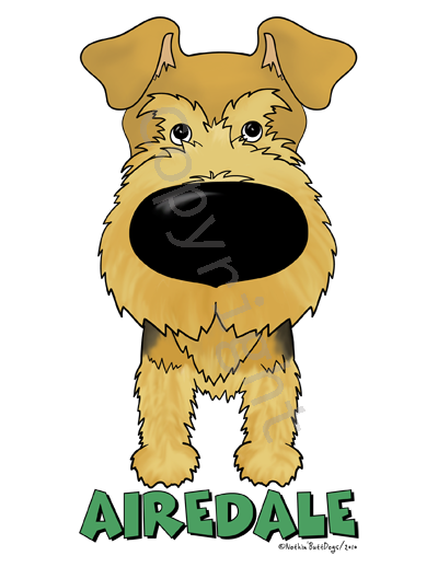 Big Nose Airedale Terrier Dark Colored T-shirts