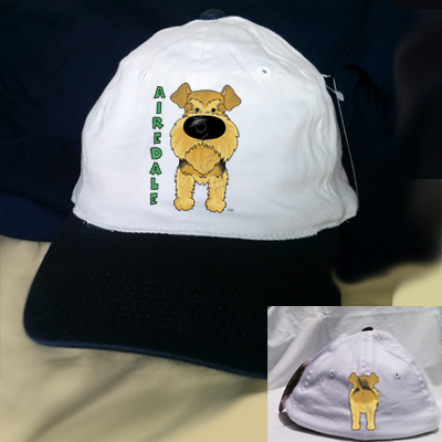 Big Nose Airedale Baseball Cap - Navy/White