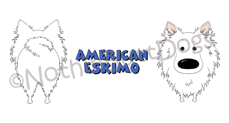 Big Nose American Eskimo Terrier 11 oz Mug