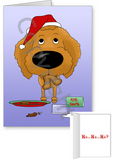 Apricot Poodle Santa's Cookies Greeting Cards