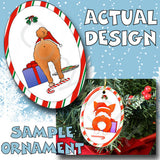 Poodle Santa Hat Christmas Ornament