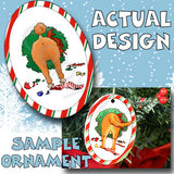 Poodle Wreath Christmas Ornament