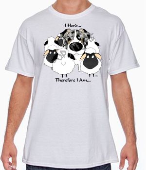 Blue Merle Aussie I Herd T-shirts - More Colors Available