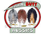 Nothin' Butt Aussies Light Colored T-shirts