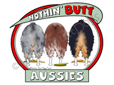 Nothin' Butt Aussies Dark Colored T-shirts
