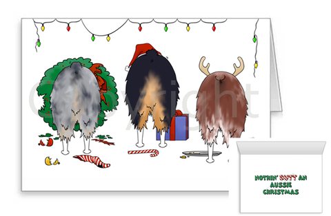 Nothin' Butt An Aussie Christmas Greeting Cards