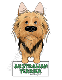 Big Nose  Australian Terrier Magnet