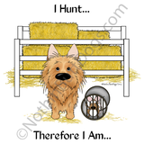 Australian Terrier Barn Hunt.... Light Colored T-shirts
