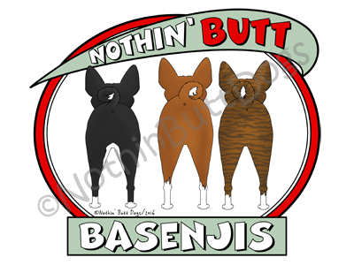Nothin' Butt Basenjis Light Colored T-shirts