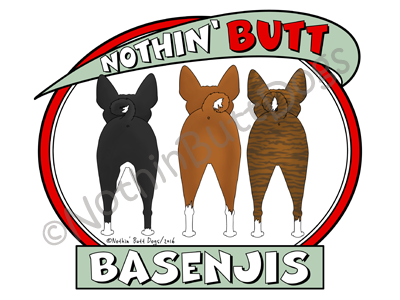 Nothin' Butt Basenjis Dark Colored T-shirts