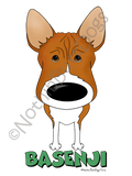 Big Nose Basenji Light Colored T-shirts