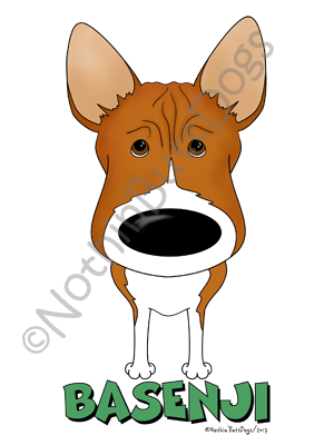 Big Nose Basenji Dark Colored T-shirts