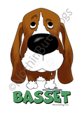 Big Nose Basset Hound Light Colored T-shirts