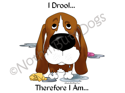 Basset Hound I Drool.... Light Colored T-shirts