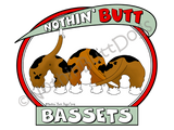 Nothin' Butt Bassets Light Colored T-shirts