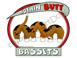 Nothin' Butt Bassets Dark Colored T-shirts