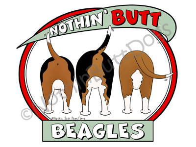Nothin' Butt Beagles Light Colored T-shirts