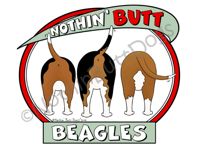 Nothin' Butt Beagles Dark Colored T-shirts