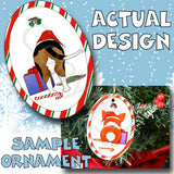 Beagle Santa Hat Christmas Ornament