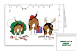 Nothin' Butt A Beagle Christmas Greeting Cards