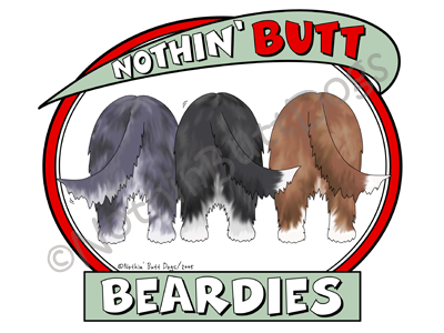Nothin' Butt Beardies Light Colored T-shirts