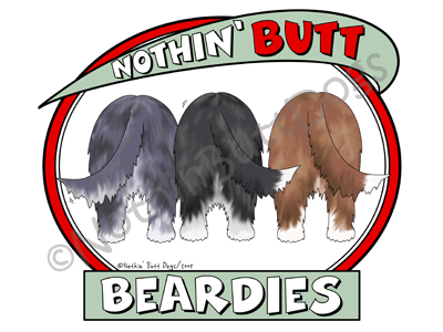Nothin' Butt Beardies Dark Colored T-shirts