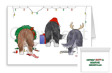 Nothin' Butt A Bearded Collie Christmas Greeting Cards