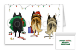 Nothin' Butt A Belgian Malinois Christmas Greeting Cards