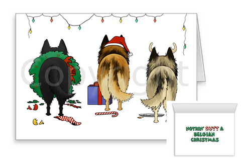 Nothin' Butt A Belgian Shepherd Christmas Greeting Cards