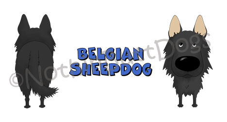 Big Nose Belgian Sheepdog 11 oz Mug