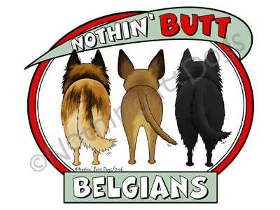 Nothin' Butt Belgians Light Colored T-shirts