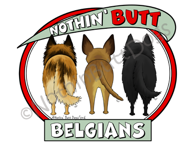 Nothin' Butt Belgians Dark Colored T-shirts