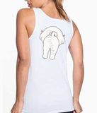 Big Nose Bichon Frise Women's Tank Top - White
