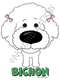 Big Nose Bichon Dark Colored T-shirts
