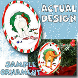 Bichon Frise Wreath Christmas Ornament