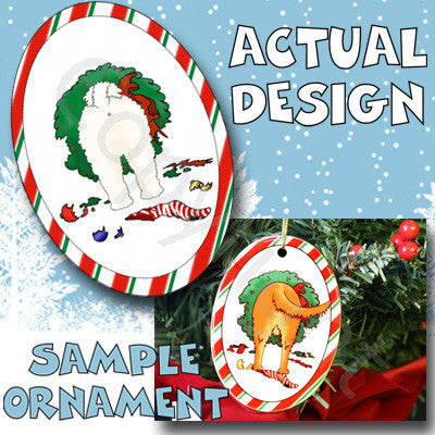 Bichon Frise Butt Christmas Ornament