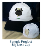 big nose pug baseball cap