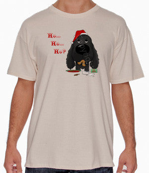 Black Cocker Spaniel Santa's Cookies Shirts - More Styles and Colors Available