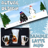 Cocker Spaniel snowman christmas latte mug