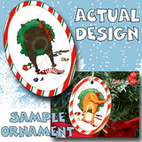 French Bulldog Wreath Christmas Ornament