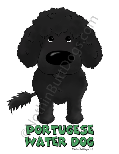 Big Nose Portuguese Water Dog Key Chain